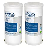 ge household water filter - AQUA CREST FXHTC Replacement Whole House Water Filter, Compatible with GE FXHTC, American Plumber WRC25HD Whole Home System Filter (Package May Vary)(Pack of 2)