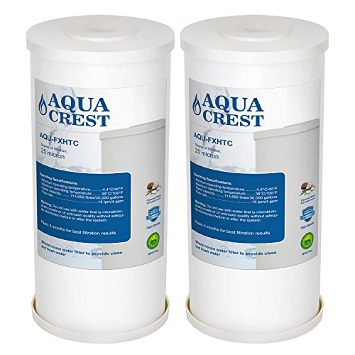 AQUA CREST FXHTC Whole House Water Filter, Compatible with GE FXHTC, American Plumber WRC25HD Whole Home System Filter (Pack of 2) ()