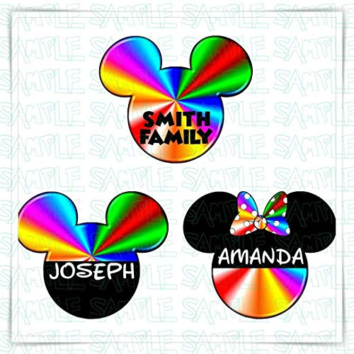 PERSONALIZED Pride Flag Disney Cruise Magnet | Disney Inspired Rainbow Mickey Magnet | Mickey Magnet for Disney Cruise Ship Door -