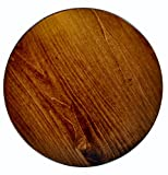 "Round Lazy Susan 12"" made of Brown Maple Wood with an Asbury Stain"
