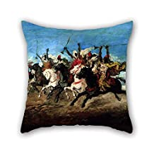 Oil Painting Lameyer Y Berenguer, Francisco - A Moorish Fantasia Pillow Covers 20 X 20 Inches / 50 By 50 Cm For Bf Outdoor Birthday Dance Room Office Husband With Each Side
