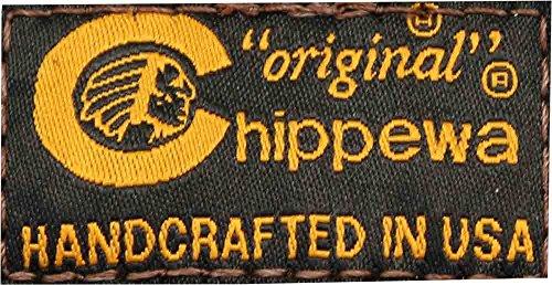 Chippewa 1901m23 Stivali Da Uomo In Pelle Con Zeppa A Punta Corta Con Suola Vibram Suola In Sughero Cavallo Pazzo