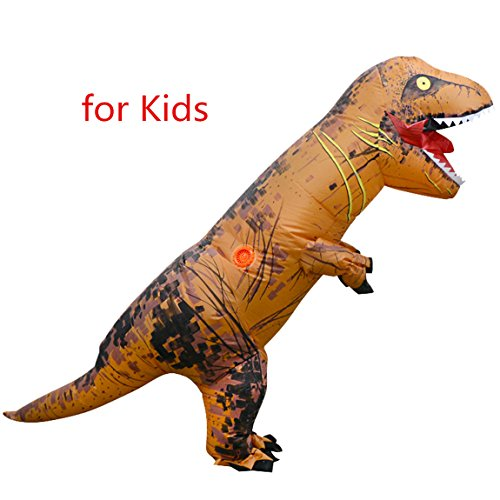 Ladyker T-Rex Dinosaur Inflatable Costume for Kids Children Teens Cosplay Costume Blowup Fancy Outfit - Inflatable T Rex Costume Toddler