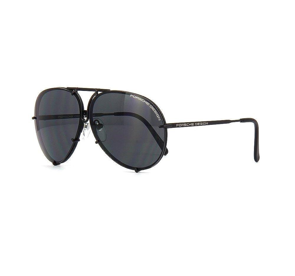 8c49a716f9 Amazon.com  PORSCHE DESIGN P8478 D Aviator Sunglasses Black Matte Frame  Size 69 + Extra Lens  Jewelry