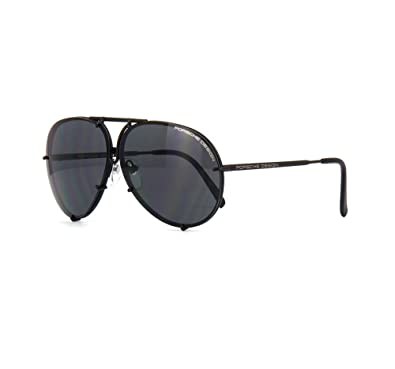 9b755dcbffb Amazon.com  PORSCHE DESIGN P8478 D Aviator Sunglasses Black Matte ...