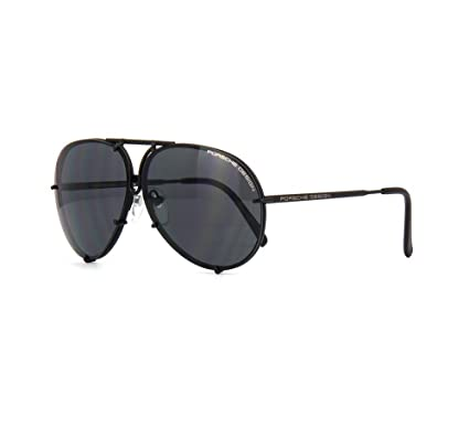 bd311ff8a4a2 PORSCHE DESIGN P8478 D Aviator Sunglasses Black Matte Frame Size 69 + Extra  Lens  Amazon.co.uk  Clothing