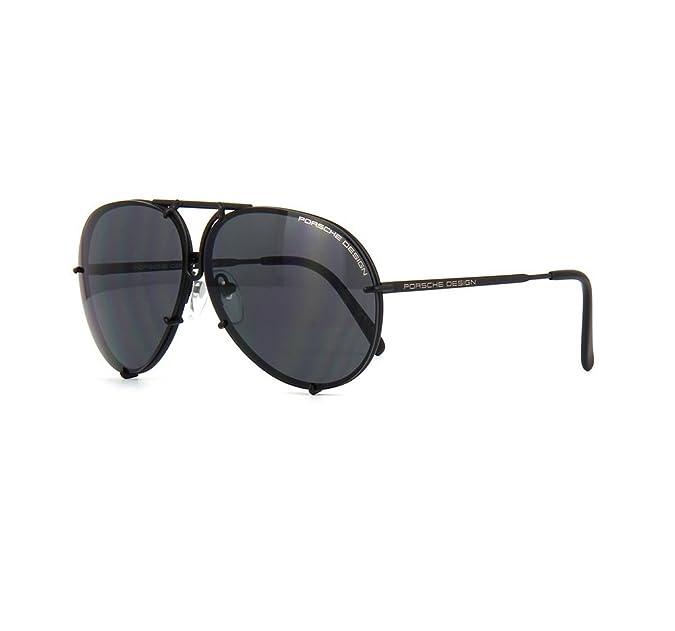 7bc6e6e61 Amazon.com: PORSCHE DESIGN P8478 D Aviator Sunglasses Black Matte Frame  Size 69 + Extra Lens: Jewelry