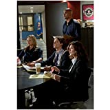 Criminal Minds 8 x 10 Photo Jennifer Jareau, Derek Morgan, Dr. Spencer Reid & Alex Blake During Briefing in Office kn