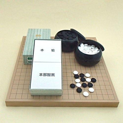 囲碁セット  新桂10号卓上接合碁盤と日向特産蛤碁石花印22号と碁笥黒大のセット