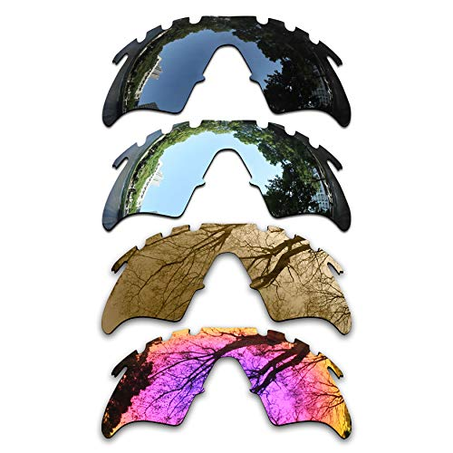 Bronze Silver Chrome Lens - ToughAsNails Set of 4 Polarized Replacement Lenses Oakley M Frame Heater Vented Pack-BSBM3