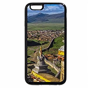 iPhone 6S / iPhone 6 Case (Black) litang town and monastery in sichuan china