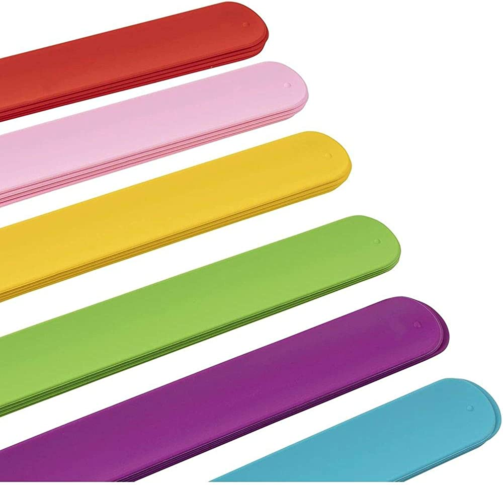 42 Pieces White Slap Bands Blank Slap Bracelets Silicone Slap Bracelets Craft Painting Wristband for DIY School Party Birthday Goodie Bag Supplies