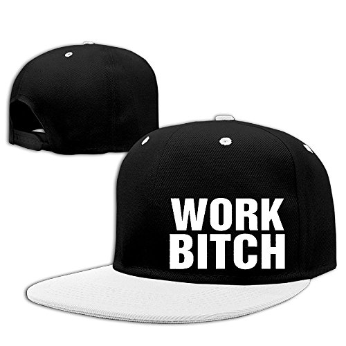 ZLOO-99 Men Women Work Bitch Adjustable Contrast Color Hiphop Falt Hat Baseball ()