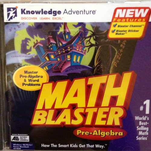 Math Blaster Pre-Algebra Software CD Game WIN 98 95 Power Macintosh