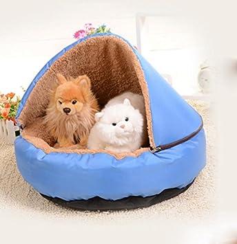 Gato impermeable Kennel Super Grueso, sacos de dormir de peluche Canal gato y gato del animal doméstico perro Mat Arenero para Gato: Amazon.es: Hogar