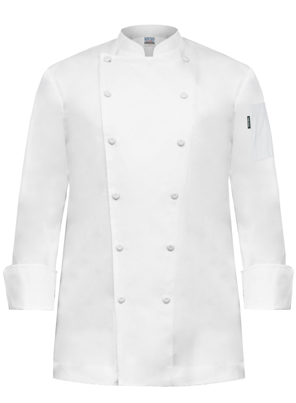Newchef Fashion Prince White Egyptian Cotton Men Chef Coat No Breast Pocket 2XL White