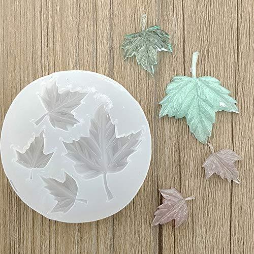 CHoppyWAVE Maple Leaf Resin Casting Molds,Silicone Mold Necklace Pendant Jewelry Making DIY Epoxy Resin Mould White