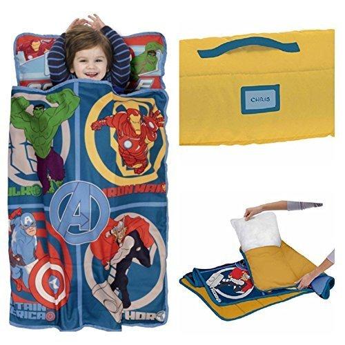 Marvel Avengers Assemble Toddler Pillow/Nap Mat (Iron Man Nap Mat compare prices)