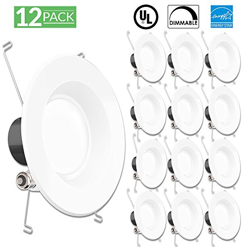Sunco Lighting 12 PACK - 13Watt 5/6-inch ENERGY STAR Dimmable LED Recessed Lighting Fixture Retrofit Downlight - 5000K Daylight LED Ceiling Light - 830LM, Title 24 Certified, ROHS, 5yr warranty