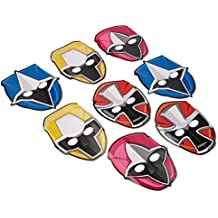 American Greetings Power Rangers Ninja Steel 8 Count Party Masks, Multicolor, One Size