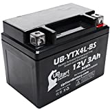 Replacement 2000 E-Ton AXL, TXL, NXL, RXL 90CC Factory Activated, Maintenance Free, ATV Battery - 12V, 3Ah, UB-YTX4L-BS