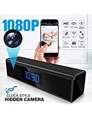 Telecamera Spia,1080P Mini Telecamera Nascosta WiFi Orologio-sveglia Microcamere Spia con Rilevamento del movimento con Visione Notturna -Sorveglianza in tempo reale della casa o dell'ufficio