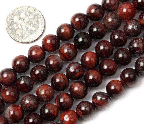 8mm Round red tiger eye stone beads strand 15