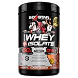 Six Star Whey Isolate Plus Protein Powder, 100% Whey Protein Isolate, Decadent Chocolate, 1.5 Pounds For Sale