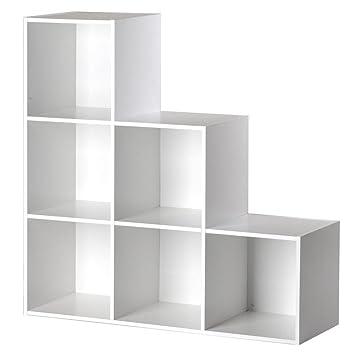 meuble escalier dgrad 6 cases 21 blanc