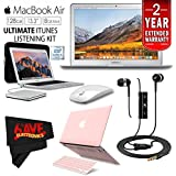 6Ave Apple 13.3 MacBook Air 128GB SSD MQD32LL/A + iBenzer Basic Soft-Touch Series Plastic Hard Case & Keyboard Cover Apple MacBook Air 13-inch 13 (Pink) + Apple USB SuperDrive Bundle