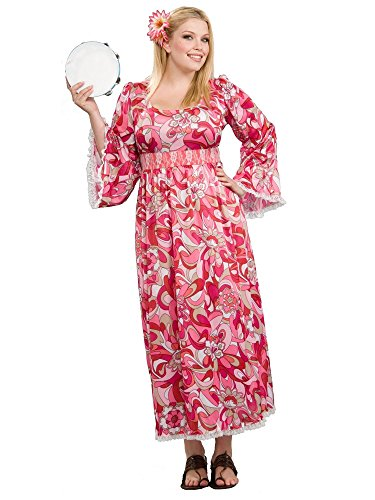Hippie Flower Child Adult Plus Adult Halloween Costume (One (Flower Halloween Costume For Adults)