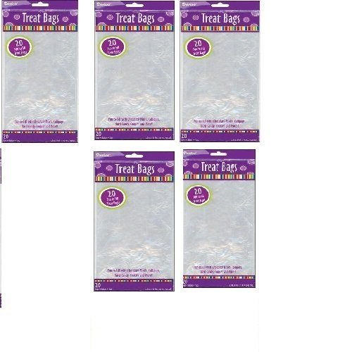 Darice 100-Piece Treat Bags 5 by 11 Inch Clear by OTC