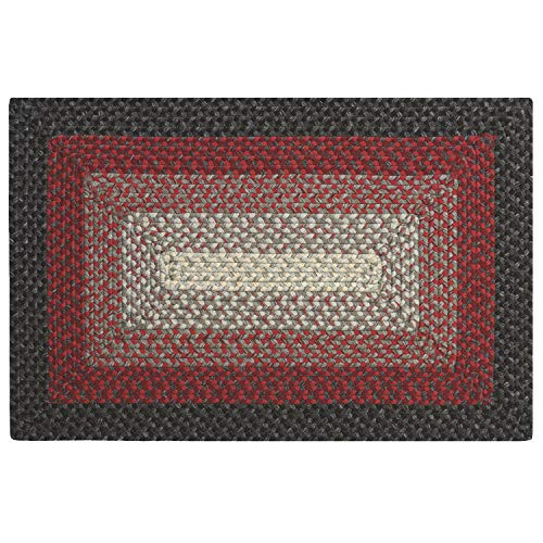 Colorfields French Braid Rug 2X3 Red