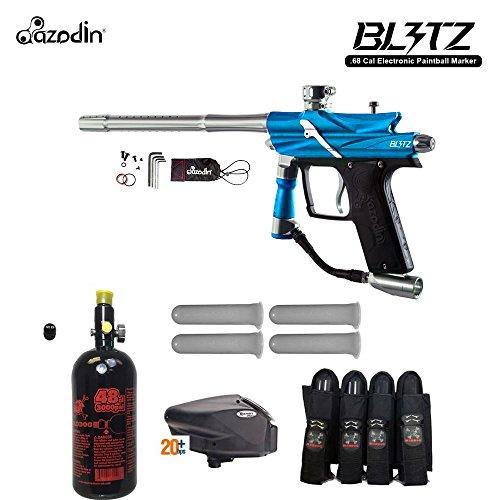 Advanced Starter Package - MAddog Azodin Blitz 3 Advanced Paintball Gun Package - Blue