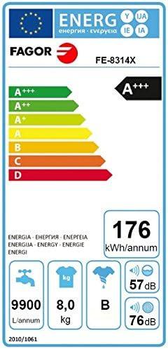 Fagor especialmente bajo consumo A + + + lavadora/acero inoxidable ...