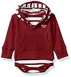 Two Feet Ahead NCAA Virginia Tech Hokies Children Unisex Stripe Hooded Creeper,12Mo,Maroon
