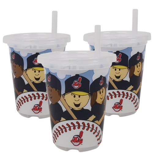 MLB Cleveland Indians Baby Fanatic Sip N Go Cups, Pack of 3