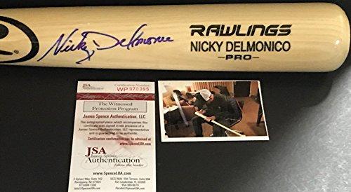 Nicky Delmonico Chicago White Sox Autographed Signed Blonde Baseball Bat JSA WITNESS COA