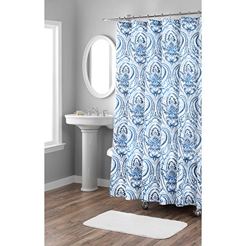 Home Dynamix Nicole Miller Melina 100% Cotton Fabric Shower Curtain, Standard 72