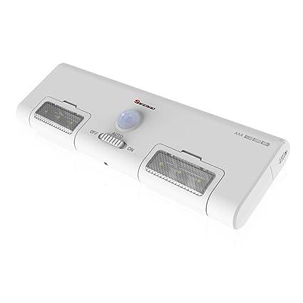 led closet light battery operated stick-anywhere portable sensor light with  6 led 90°