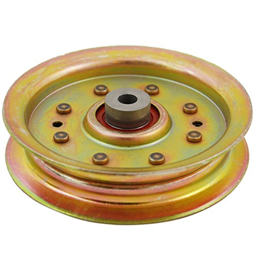 Lawn Mower Idler Pulley - Heavy-Duty Flat Idler Pulley Replaces Cub Cadet 956-04129 956-04129C 756-04129B 756-04129C MTD 753-08171 756-04129B 756-04129C 956-04129 956-04129C Fits 38