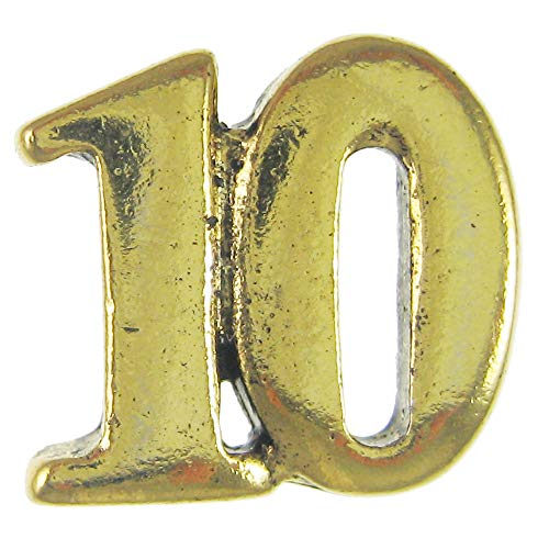 Jim Clift Design 10 Gold Lapel Pin - 10 Count