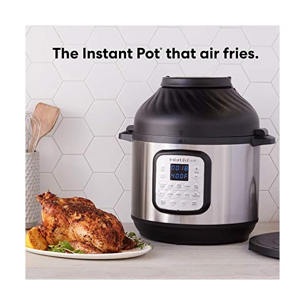 Instant Pot Duo Crisp Pressure Cooker 11 in 1, 8 Qt with Air Fryer, Roast, Bake, Dehydrate and more 3