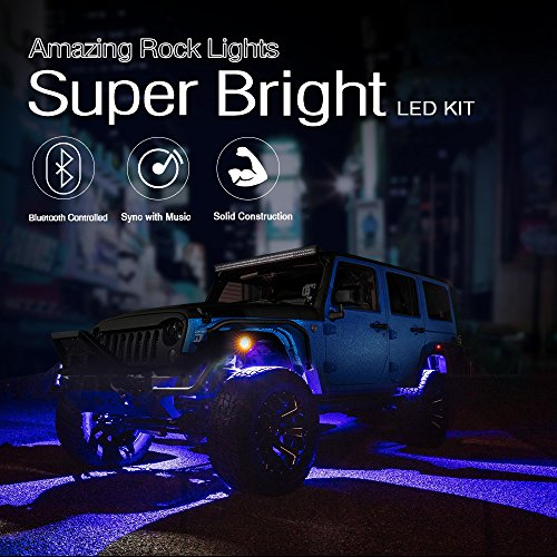 MICTUNING-RGB-LED-Rock-Lights-with-Bluetooth-Controller-Timing-Function-Music-Mode-Multicolor-Neon-LED-Light-Kit