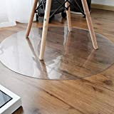 Office Chair Mat Hard Floor Protection Round Transparent 100% Polycarbonate Non Slip,2mmThick-120cm