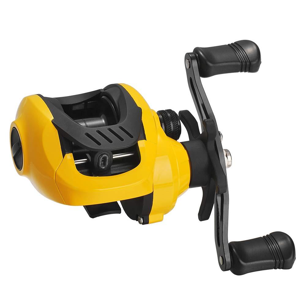 Lixada Lightweight High Speed 7.2:1 Gear Ratio Baitcast Fishing Reel 17+1 Ball Bearings Baitcasting Fishing Reel Baitcaster Tackle with Extra Spool