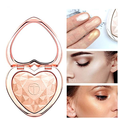 Glow Kit Highlighter Makeup Shimmer Powder Highlighter Palette Base Illuminator Highlight Face Contour Golden Bronzer (01)