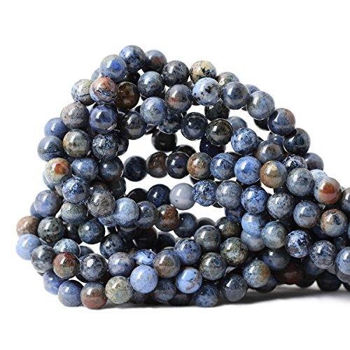 Qiwan 45PCS 8mm Natural sunset dumortierite Gemstone Beads Gem Round Loose Beads for Jewelry Making 1 Strand 15