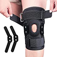 Knee Brace, Professional Compression Knee Sleeve for Men Women Knee Support with Side Stabilizers & Gel Pa
