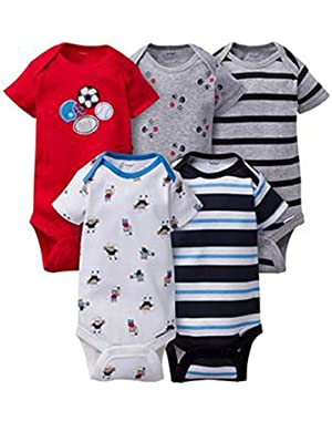 Unisex Baby Onesies (Pack of 5) (6-9 Months, Sports 2)
